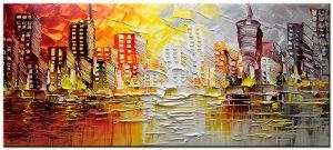 stadsgezicht modern groot schilderij