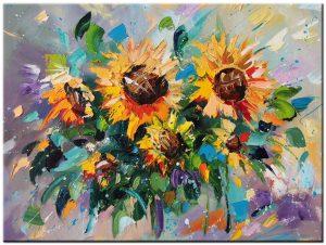 zonnebloemen modern schilderij