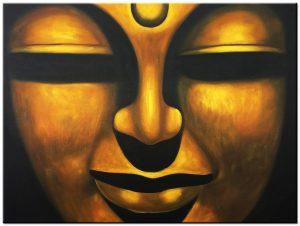 boeddha modern schilderij
