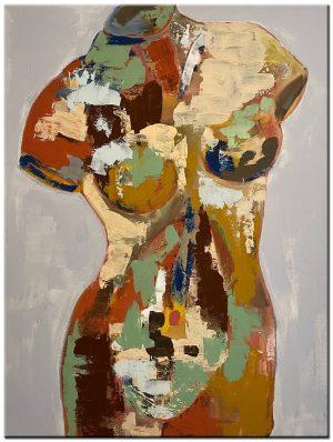 torso modern schilderij