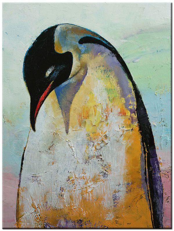 pinguïn modern schilderij