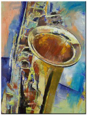 saxofoon modern schilderij