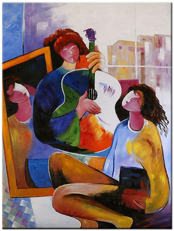 muziek modern schilderij