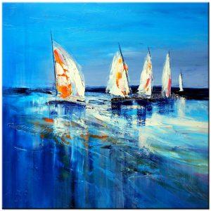 zeilboten modern schilderij
