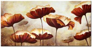 bloemen modern XXL schilderij