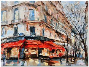 stad modern schilderij