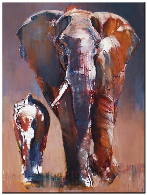 olifant modern schilderij