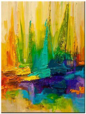 boten modern schilderij