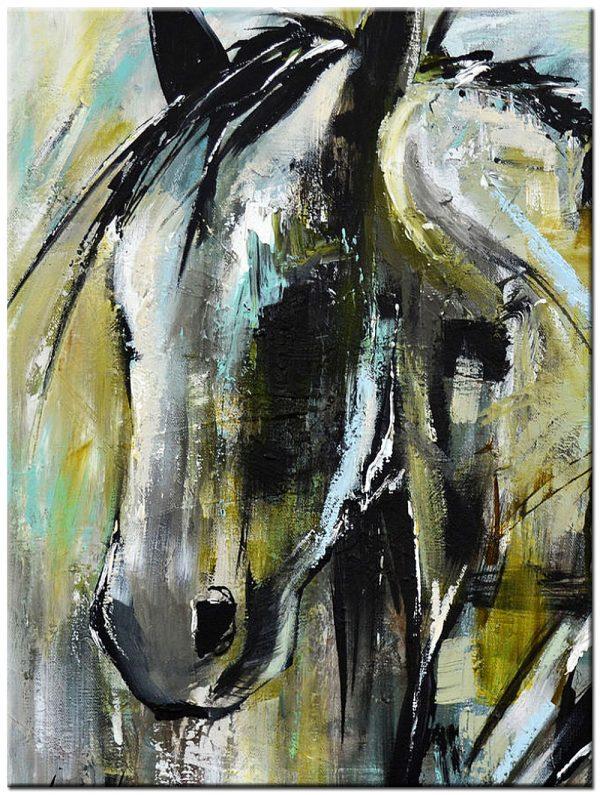 paard modern schilderij