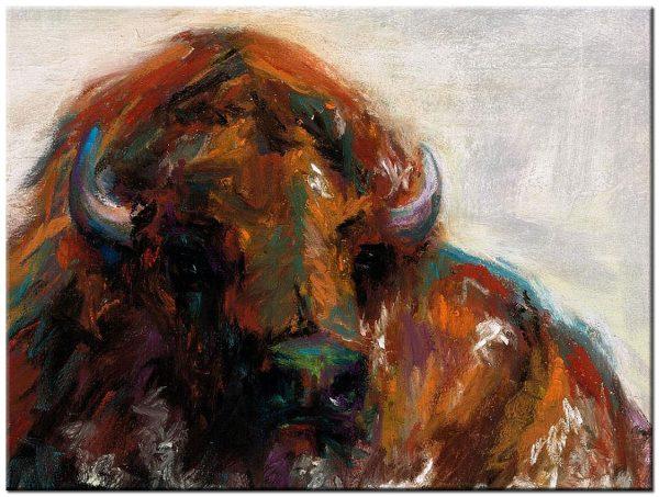 bison modern schilderij