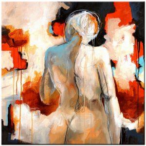 erotisch modern schilderij