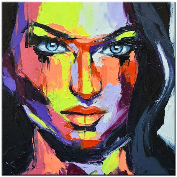 vrouw modern schilderij