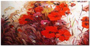 Groot Bloemen schilderij