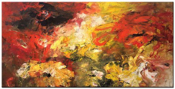 Groot Schilderij modern abstract