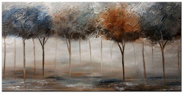 bomen groot modern schilderij