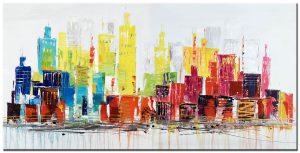 stadsgezicht groot modern schilderij