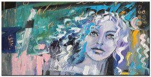 vrouw modern groot schilderij