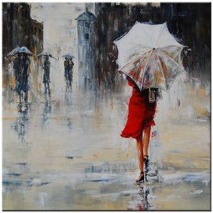 paraplu modern schilderij