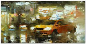 new york taxi modern schilderij