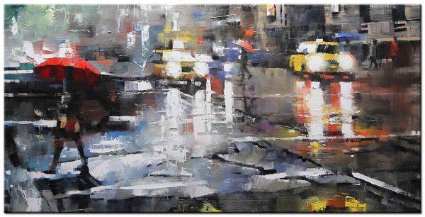 new york modern groot schilderij