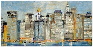 stad modern groot schilderij