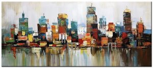 Stadsgezicht extra groot schilderij