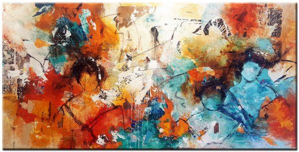groot modern schilderij