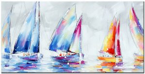 boten modern groot schilderij