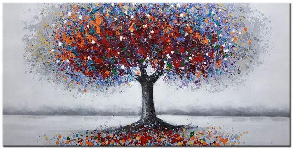 boom modern groot XXL schilderij