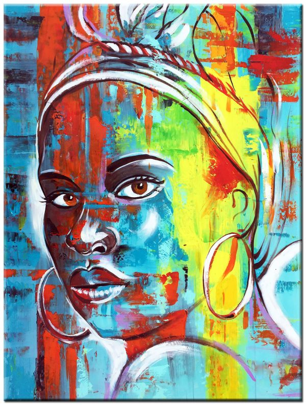 Afrikaanse dame schilderij