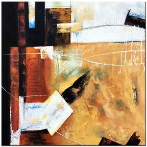 abstact olieverf schilderij