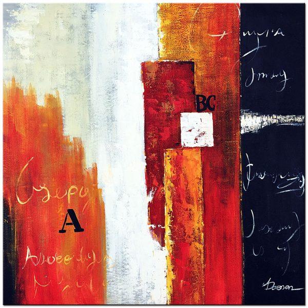 abstract olieverf schilderij