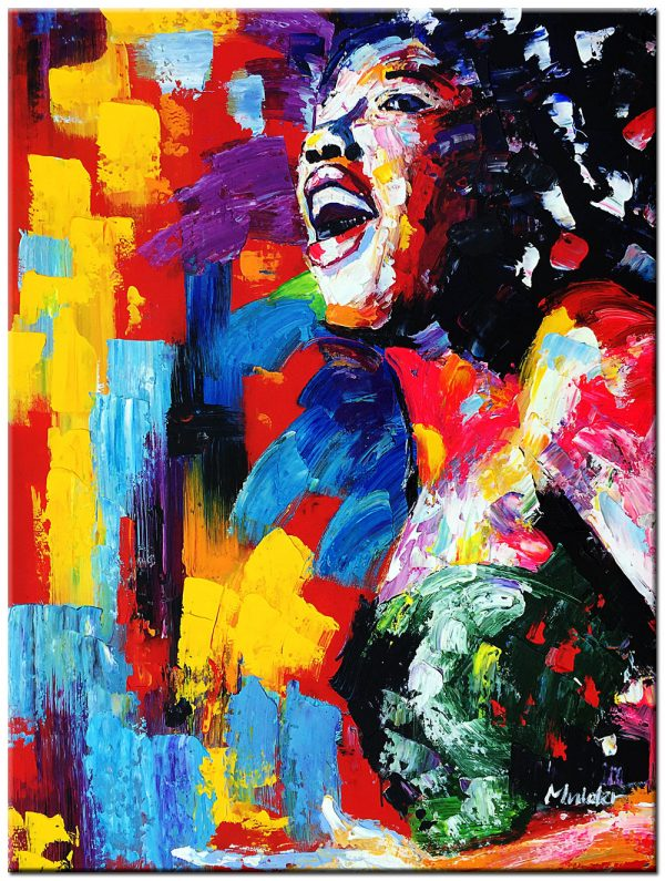 zangeres schilderij