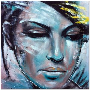 woman olieverf schilderij