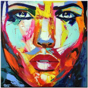 gezicht olieverf schilderij