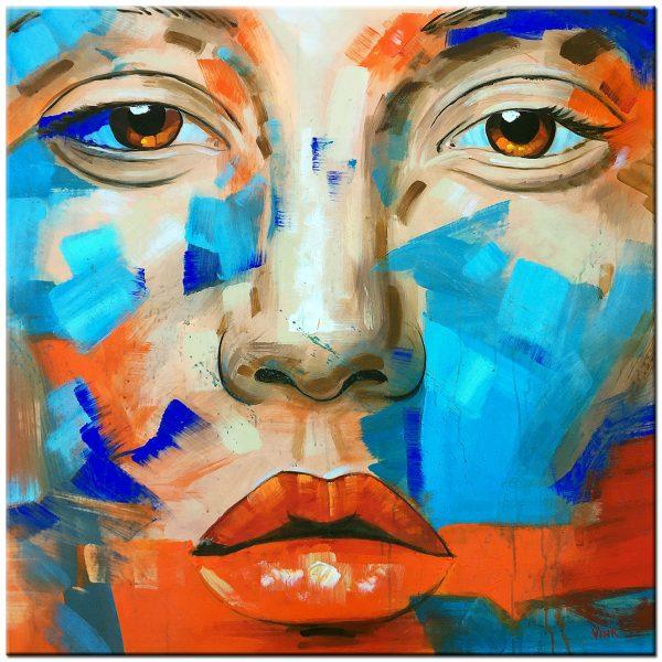 face olieverf schilderij