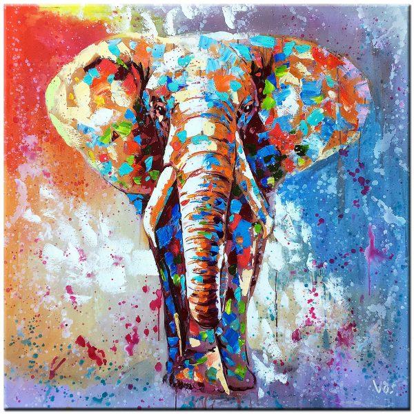 olifant olieverf schilderij
